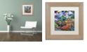 """Trademark Global Jenny Newland 'Dinosaur Friends' Matted Framed Art, 11"""" x 11"""""""
