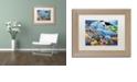 "Trademark Global Jenny Newland 'Sealife' Matted Framed Art, 11"" x 14"""