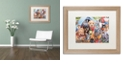 "Trademark Global Jenny Newland 'Camping Buddies' Matted Framed Art, 16"" x 20"""
