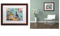 "Trademark Global Nick Bantock 'Giraffe' Matted Framed Art - 16"" x 20"""