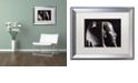 "Trademark Global Nick Bantock 'Black Malt Falcon' Matted Framed Art, 16"" x 20"""