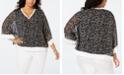 Tommy Hilfiger Plus Size Printed Chiffon Top