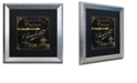 "Trademark Global Color Bakery 'La Cuisine Iv' Matted Framed Art, 16"" x 16"""