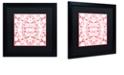 "Trademark Global Color Bakery 'Prima Donna Ii' Matted Framed Art, 16"" x 16"""