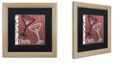 """Trademark Global Color Bakery 'Cheers I' Matted Framed Art, 16"""" x 16"""""""