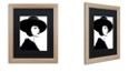 "Trademark Global Color Bakery 'Mode' Matted Framed Art, 16"" x 20"""