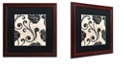 "Trademark Global Color Bakery 'Stylesque I' Matted Framed Art, 16"" x 16"""