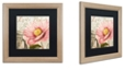 "Trademark Global Color Bakery 'Bonjour Two' Matted Framed Art, 16"" x 16"""