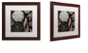 "Trademark Global Color Bakery 'Daisy Cartwheels I' Matted Framed Art, 16"" x 16"""