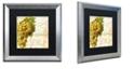 "Trademark Global Color Bakery 'Cafe D?Or Iii' Matted Framed Art, 16"" x 16"""