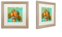 """Trademark Global Color Bakery 'Glowing Fruits I' Matted Framed Art, 16"""" x 16"""""""