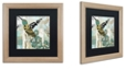 "Trademark Global Color Bakery 'Hummingbird Batik Ii' Matted Framed Art, 16"" x 16"""