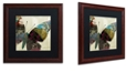 "Trademark Global Color Bakery 'Butterfly Brocade Iv' Matted Framed Art, 16"" x 16"""