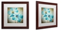 "Trademark Global Color Bakery 'Himalayan Blue I' Matted Framed Art, 16"" x 16"""