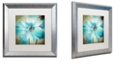 "Trademark Global Color Bakery 'Himalayan Blue Ii' Matted Framed Art, 16"" x 16"""