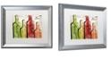 "Trademark Global Color Bakery 'Wine Tasting I' Matted Framed Art, 16"" x 20"""