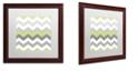 "Trademark Global Color Bakery 'Calyx Chevron' Matted Framed Art, 16"" x 16"""