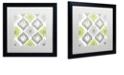"Trademark Global Color Bakery 'Calyx Ikat' Matted Framed Art, 16"" x 16"""