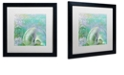 """Trademark Global Color Bakery 'Painted Sea Ii' Matted Framed Art, 16"""" x 16"""""""