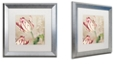 "Trademark Global Color Bakery 'Peppermint Tulips I' Matted Framed Art, 16"" x 16"""