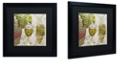 "Trademark Global Color Bakery 'Wine Cellar Ii' Matted Framed Art, 16"" x 16"""