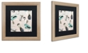 """Trademark Global Color Bakery 'Fifties Patterns I' Matted Framed Art, 16"""" x 16"""""""