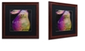 """Trademark Global Color Bakery 'Painted Pear Ii' Matted Framed Art, 16"""" x 16"""""""