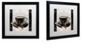 """Trademark Global Color Bakery 'Vintage Cafe Iii' Matted Framed Art, 16"""" x 16"""""""