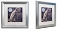 "Trademark Global Color Bakery 'Owl 1' Matted Framed Art, 16"" x 16"""