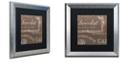 "Trademark Global Color Bakery 'Bon Mots Iii' Matted Framed Art, 16"" x 16"""