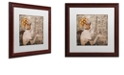 """Trademark Global Color Bakery 'A Date With Paris' Matted Framed Art, 16"""" x 16"""""""