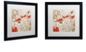 """Trademark Global Color Bakery 'Winged Tapestry Iii' Matted Framed Art, 16"""" x 16"""""""