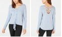 BCX Juniors' Button-Front Dolman-Sleeved Sweater