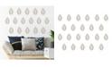 Brewster Home Fashions Walnut Wall Art Kit