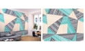 Brewster Home Fashions Layered Geometric Wall Mural
