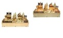 Jeco Wooden Village Figures LED Music Box