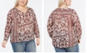 Lucky Brand Plus Size Printed V-Neck Top
