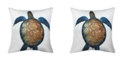 Edie@Home Printed Turtle Outdoor Pillow