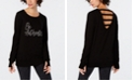 Ideology Be Authentic Graphic Strappy-Back Top, Created for Macy's