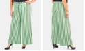 NY Collection Plus Size Striped Wide-Leg Pants