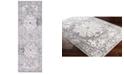 "Surya Elaziz ELZ-2310 Medium Gray 2'7"" x 7'6"" Runner Area Rug"