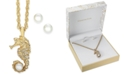 Charter Club Gold-Tone Imitation Pearl Stud Earrings & Seahorse Pendant Necklace Set, Created for Macy's