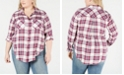 Lucky Brand Plus Size Plaid Button-Up Shirt
