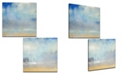 "Ready2HangArt 'Coastal Pouring' 2 Piece  Canvas Wall Art Set, 20x20"""