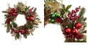 "Nearly Natural 24"" Ornament, Pine and Pine cone Wreath"