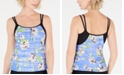 GO by Gossip Love Note Floral-Print Tankini Top