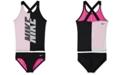 Nike Big Girls 2-Pc. Rift Prism Crossback Tankini