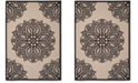 "Safavieh Courtyard Beige and Black 4' x 5'7"" Sisal Weave Area Rug"