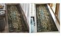 "Safavieh Classic Vintage Black and Olive 2'3"" x 8' Runner Area Rug"