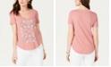 Lucky Brand Cotton Mosaic-Graphic T-Shirt